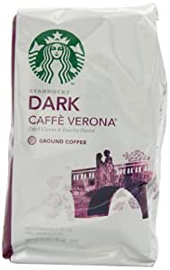Starbucks Caffe Verona Coffee, Dark, Ground, 12-Ounce Bags (Pack of 3)