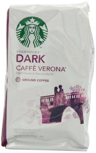 Starbucks Caffe Verona Coffee, Dark, Ground, 12-Ounce Bags (Pack of 3) by Starbucks