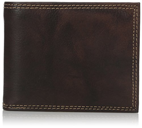 Buxton Men's Hunt Convertible Billfold Wallet, Brown, One...