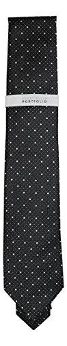 Perry Ellis Portfolio Mimosa Dot Men's Neck Tie (One Size, Black) Perry Ellis Silk Shirt