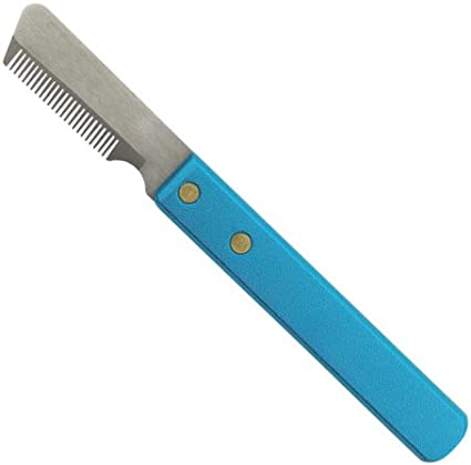 Fine 6-3//4-Inch Master Grooming Tools Stainless Steel Pet Stripper Knive