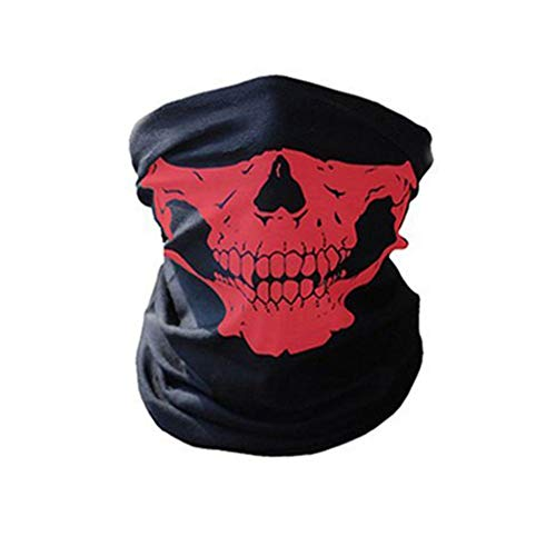 Bornbayb Outdoor Masks Unisex Skull Seamless Half Face Mask for Riding Motorcycle Multifunction -