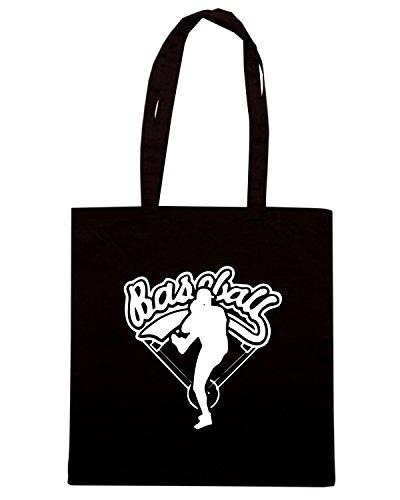 T-Shirtshock - Bolsa para la compra SP0012 Baseball Logo T-shirt Premium Negro