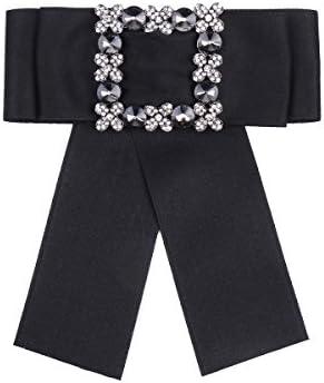 Treend24 N/œud baroque unisexe ruban pompeux en satin pour costume avec fermeture /à /épingle broche magn/étique /à perles