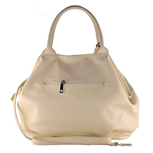 en Made Cuir Italy 100 BORDERLINE Beige Femme Sac in GIADA ZwTY4