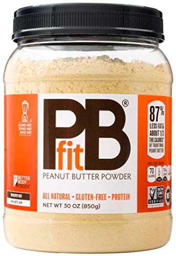 (PBfit All-Natural Peanut Butter Powder, Powdered Peanut Spread from Real Roasted Pressed Peanuts, 8g of Protein (30 oz.))