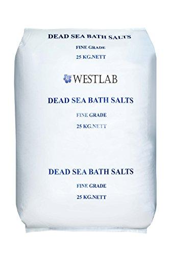 - Westlab's Dead Sea Salt 55lb (Fine Grain Bulk) (1 x Large Bag)