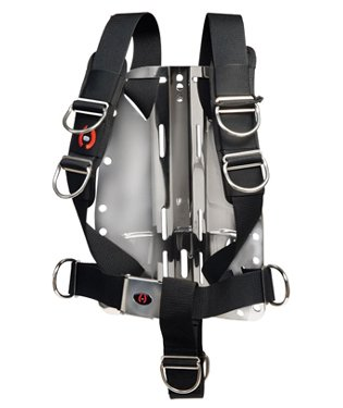 (Hollis Solo Harness System for Technical Diving Systems, Harness w/ Stainless Steel Backplate Pre-Strung)