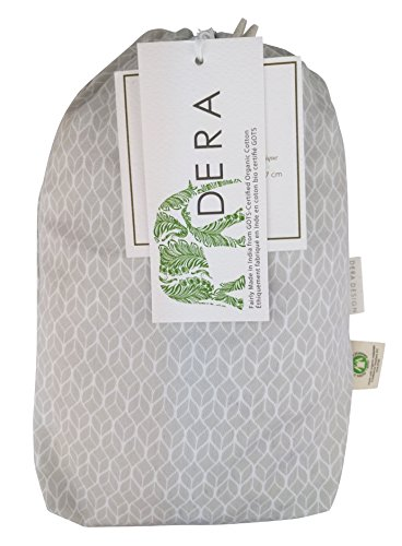 Fitted Crib Sheet in GOTS-Certified Soft Organic Cotton for Baby or Toddler, Geo Leaf Print (Grey)