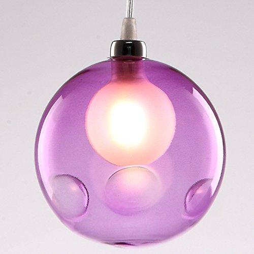 (Leihongthebox loft retro industrial air-colored lights creative personality glass Pendant Ceiling Lights, diameter of 15 cm, cigarette ash)