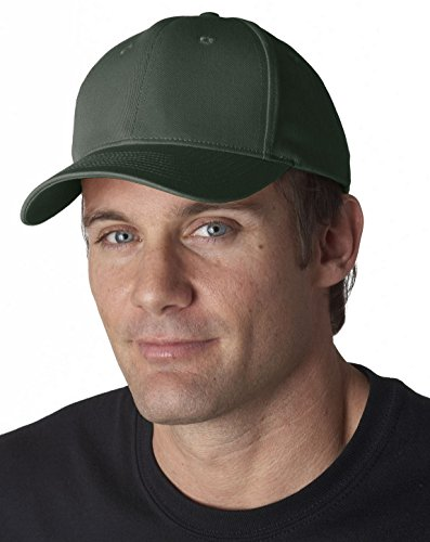 UltraClub 8101 Solid Cotton Cap Forest Green One Size ()