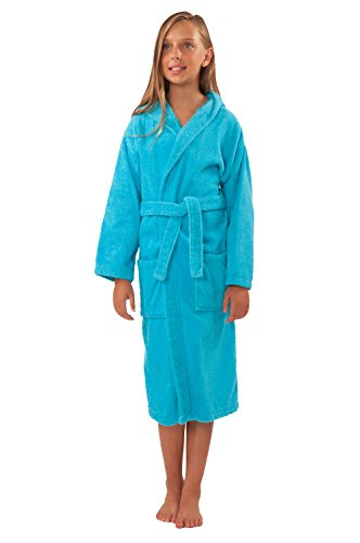 Soft Touch Linen Bathrobe Turquoise