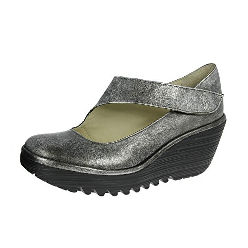 FLY London Women's Yasi682fly Wedge Pump Antique Silver