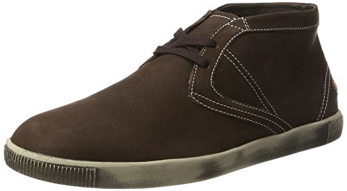Softinos Herren Tim Smooth Hohe Sneaker, Braun (Dk Brown), 43 EU