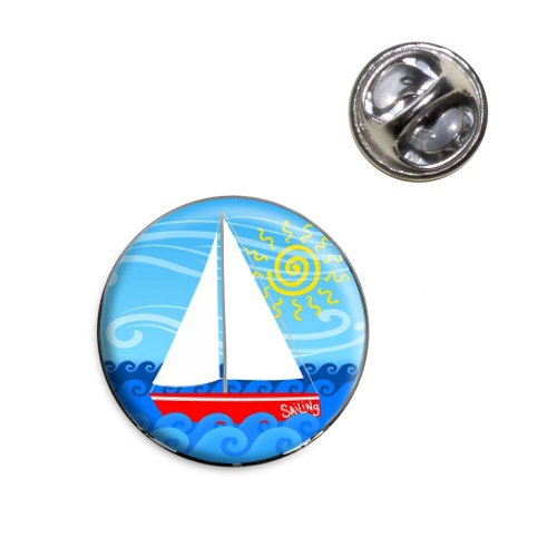 (Sailboat on the Lake Lapel Hat Tie Pin Tack)