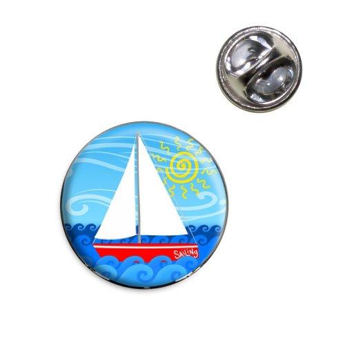 (Sailboat on the Lake Lapel Hat Tie Pin Tack)
