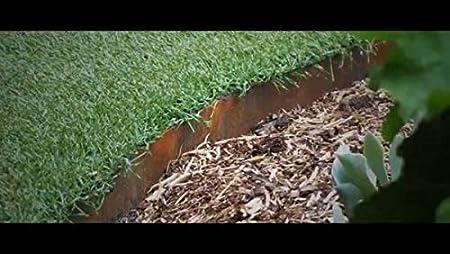 CORE Edge - Borde de jardín de acero flexible (100 mm, 5 por ...