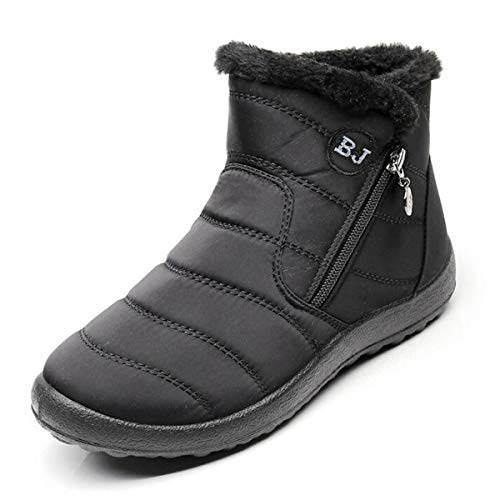 Dear Time Warm Snow Boots for Women Waterproof Winter Fur Li