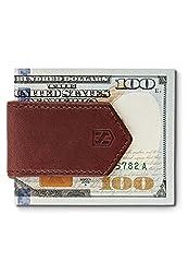 Money Clip Leather Men - HUSKK - MC-DB - Dark Brown