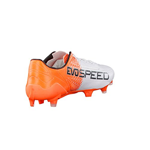 Puma Evospeed Sl Ii Lth Tricks Fg - Botas de fútbol Hombre Puma White-Puma Black-Shocking Orange