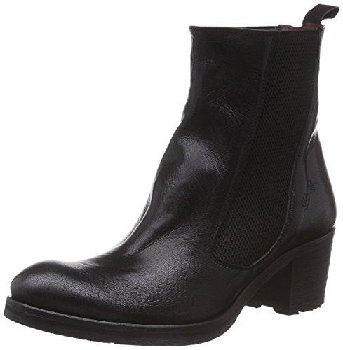 BUNKER Booty - botas de cuero mujer negro - Schwarz (JAVA BLACK)