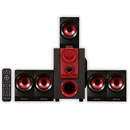 Theater Solutions by Goldwood 5.1 Speaker System 5.1-Channel Home Theater Speaker System, Black (TS521)
