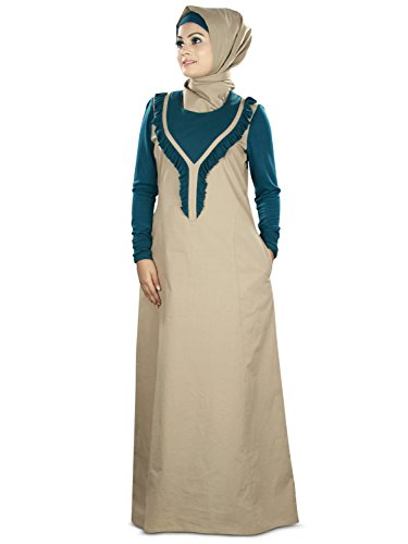 MyBatua Trendy Sleeves Mit Frauen Cotton Jersey Abaya ggYnrWxF6v