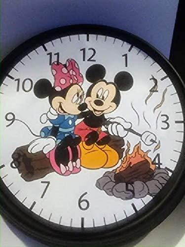 FARMHOUSE WITH CHICKENS WALL Clock-Handmade.