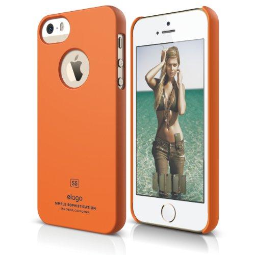 iPhone SE case, elago [Slim Fit][Soft Feel Orange] - [Light][Minimalistic][True Fit] - for iPhone SE/5/5S