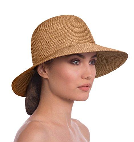 Eric Javits Luxury Fashion Designer Women's Headwear Hat - Squishee IV - Natural by Eric Javits