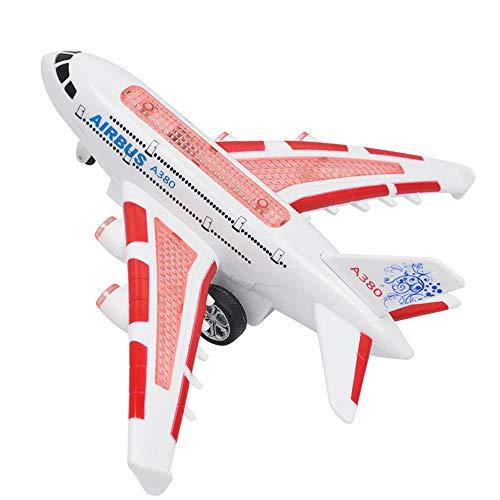 エアバスのリモートコントロール飛行機の飛行機の飛行機の電気RC子供のおもちゃのギフト (赤)
