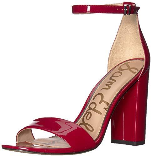 Sam Edelman Women's Yaro Heeled Sandal Dark Cherry Patent 6.5 M US
