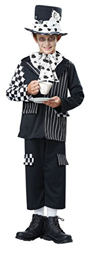 Mad Hatter Costume Makeup (California Costumes Mad Hatter Child Costume, Black/White, Medium)