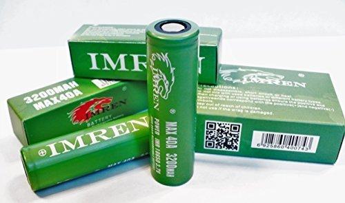 Imren 18650 3200mah 3.7v- set of 2 by IMREN