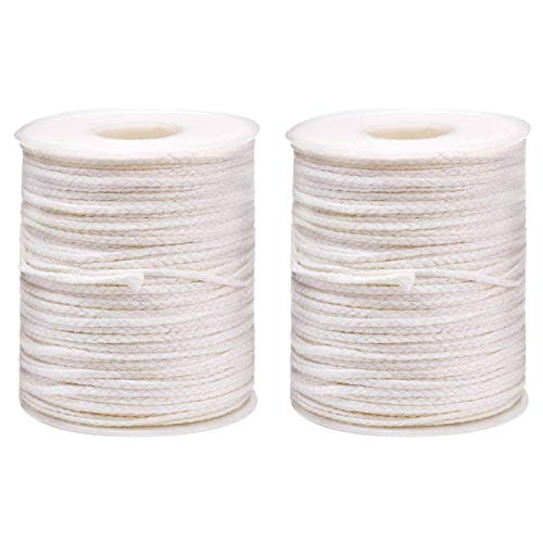 Teemico 400 Feet 24 Ply Braided Wick Candle Wick Spool for Candle DIY and Candle Making ()