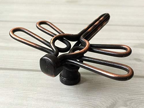 (Set of 1) Dragonfly Cabinet Door Knob Drawer Knobs Pulls Black Silver Oil Rubbed Bronze - Bronze