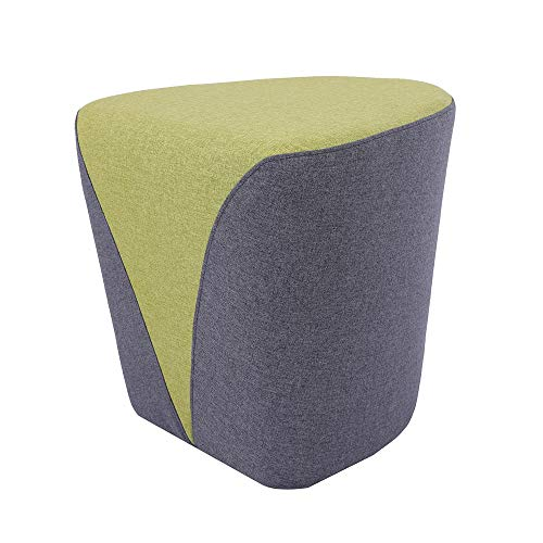 Sunon Heart Upholstered Ottoman Stool,18.1″ L 17.7″ W 17″ H Tufted Ottoman Pouf, Fabric Foot Rest and Nesting Stool (Green)