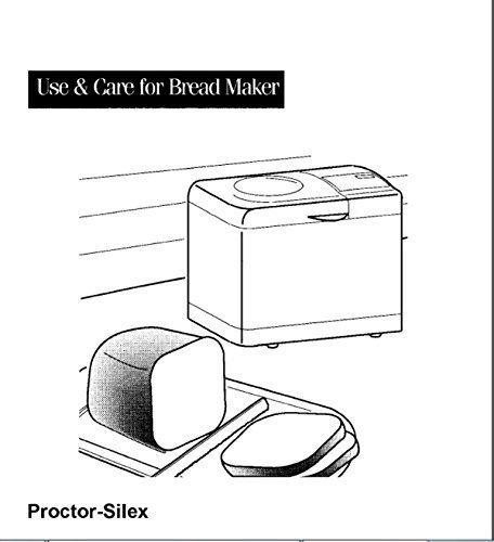 Proctor Silex Pan máquina eléctrica manual de instrucciones y ...