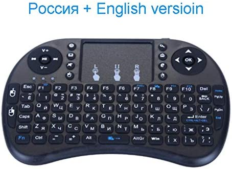 Color: Russia Version Calvas Russia Spain English Version Mini Keyboard With Touchpad 2.4GHZ Wireless Air Mouse Remote Control For Android TV Box Laptop HTPC