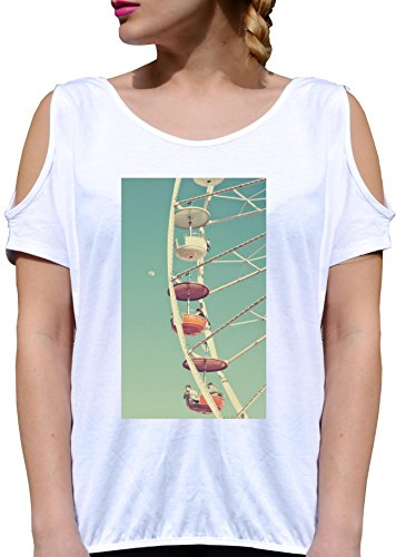 T SHIRT JODE GIRL GGG27 Z1909 CITY SKYLINE PANORAMA HOLIDAY FUNNY FASHION COOL BIANCA - WHITE XL