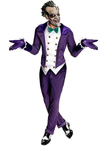 Rubie's Men's Batman Arkham City Joker Costume, Purple, One Size ()