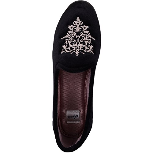 Absolute Footwear Womens Velour Style Slip On Slippers/Indoor Shoes With Attractive Design Black ODV2WcEzYv