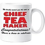 Chief Tea Maker Mug Office Work Novelty Funny Mug Gift Cup Ceramic
