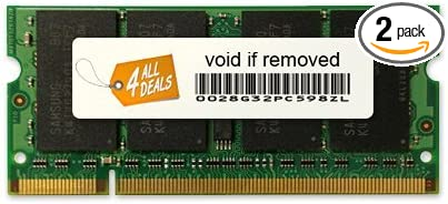 2x4GB DDR2-800MHz 200-pin DIMM Memory RAM Upgrade for Dell Latitude E6400 4AllDeals 8GB Kit