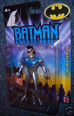 Batman Animated Silver Nightwing Action Figure