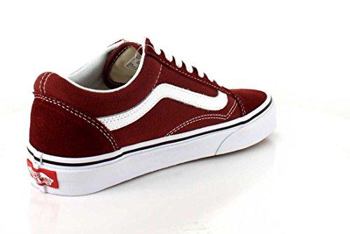 Vans Old Skool, Zapatillas de Entrenamiento Unisex Adulto Rojo (Madder Brown/true White)