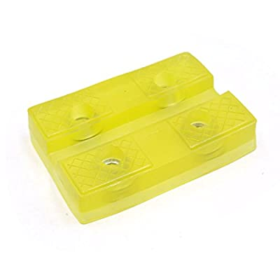 uxcell Universal Auto Car Truck Rectangle Rubber Jack Lifter Pad Height Adapter Yellow