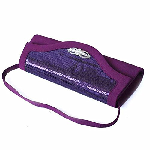 Sac Luxe à Embrayage Main Rigide Purple Purse Pochette fBIqf