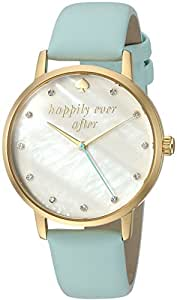 kate spade new york Women's 'Metro' Quartz Stainless Steel and Leather Casual Watch, Color:Blue (Model: KSW1318)