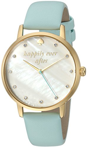 kate spade new york Women's 'Metro' Quartz Stainless Steel and Leather Casual Watch, Color:Blue (Model: KSW1318) by Kate Spade New York
